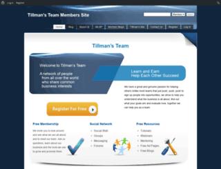 team.tillmanssite.com screenshot