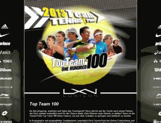 team100.tennis-point.de screenshot