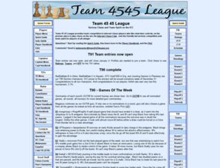 team4545league.org screenshot