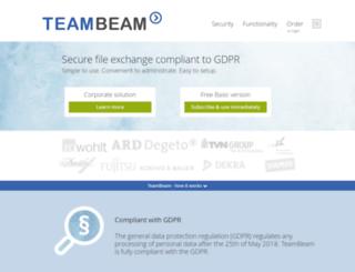 teambeam.de screenshot