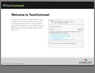 teamcomcast.com screenshot