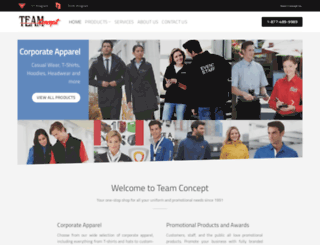 teamconcept.ca screenshot