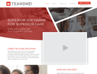 teamdme.com screenshot