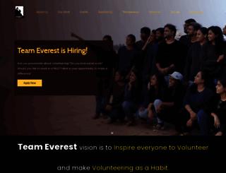 teameverestindia.org screenshot
