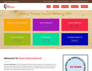 teaminternational.org.in screenshot