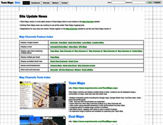 teammaps.com screenshot