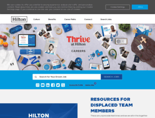 teammembers.hilton.com screenshot