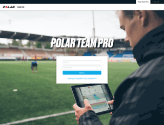 teampro.polar.com screenshot