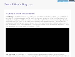 teamrithm.tumblr.com screenshot