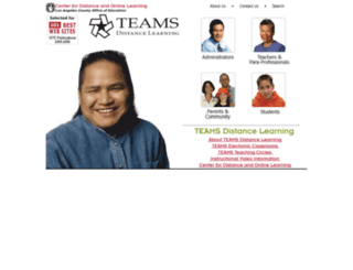 teams.lacoe.edu screenshot