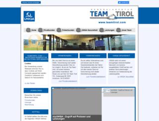 teamtirol.com screenshot