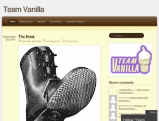 teamvanilla.wordpress.com screenshot
