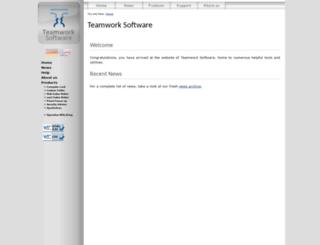 teamwork-software.de screenshot