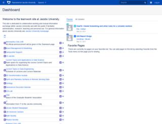 teamwork.jacobs-university.de screenshot