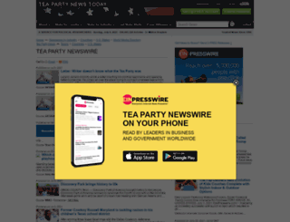 teaparty.einnews.com screenshot