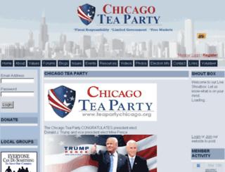 teapartychicago.org screenshot