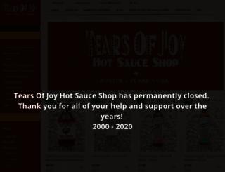 tearsofjoysauces.com screenshot