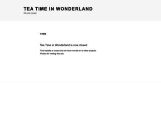 teatimeinwonderland.co.uk screenshot