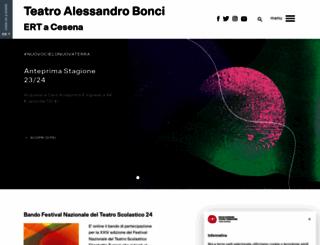 teatrobonci.it screenshot