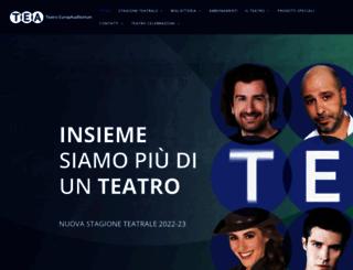 teatroeuropa.it screenshot