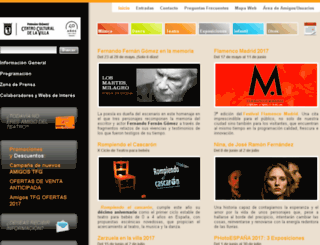 teatrofernangomez.esmadrid.com screenshot