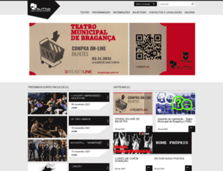teatromunicipal.cm-braganca.pt screenshot