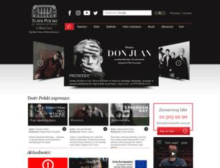 teatrpolski.waw.pl screenshot