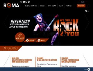 teatrroma.waw.pl screenshot