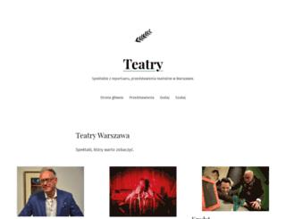 teatrywarszawa.com screenshot
