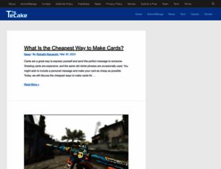 tecake.com screenshot