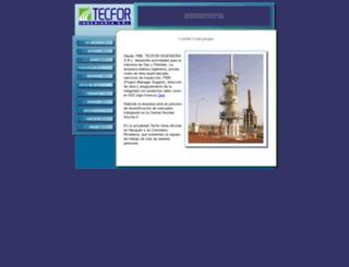 tecfor-ing.com screenshot