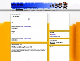 tech-droid.blogspot.com screenshot
