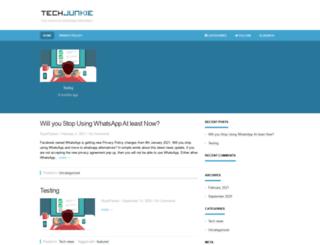 tech-junkie.org screenshot