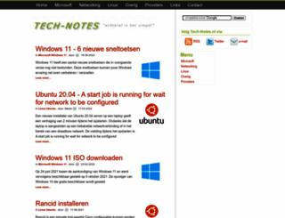 tech-notes.nl screenshot