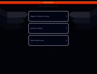 tech-wanderings.com screenshot