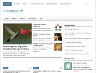 tech.anashir.com screenshot