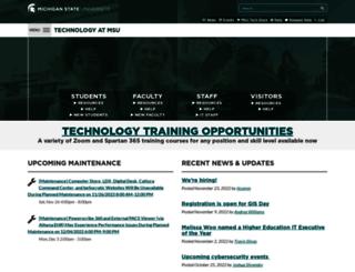 tech.msu.edu screenshot