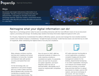 tech.paperclip.com screenshot