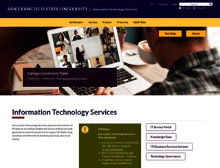 tech.sfsu.edu screenshot