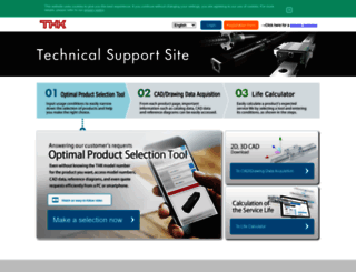 tech.thk.com screenshot