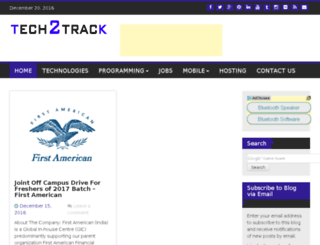 tech2track.com screenshot