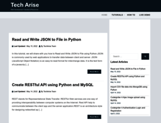 techarise.com screenshot