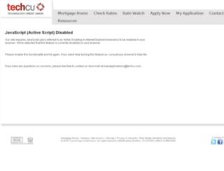techcu1.mortgagewebcenter.com screenshot