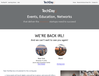 techdayhq.com screenshot
