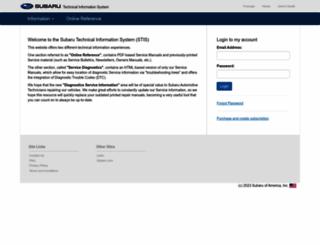 techinfo.subaru.com screenshot
