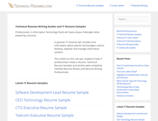 technical-resumes.com screenshot