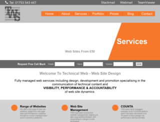 technicalwebservices.com screenshot