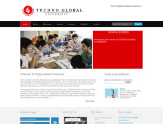 technoglobaluniversity.co.in screenshot