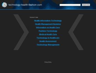 technology-health-fashion.com screenshot