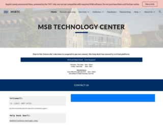 technology.msb.edu screenshot